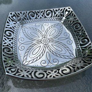 Brighton Silver Square Trinket And Jewelry Tray